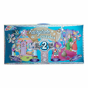 GRAFIX Boys Fairytale Jigsaw Puzzles Puss In Boots Hansel & Gretel 45 Pce 50x40