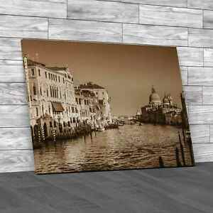 Venice Italy 2 Sepia Canvas Print Large Picture Wall Art