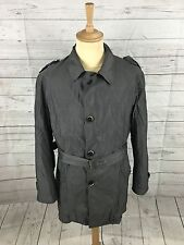 "Men's CORNELIANI Silk Rain Mac - XL 46"" - Grey - Great Condition"