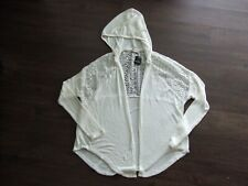NWT Hollister Women's Lightweight Lace Cardigan top Sweater Hooded ML medlarge