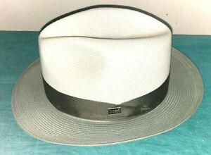 NWT DOBBS TOLEDO OLIVE BEIGE 7 3/8 STRAW FEDORA US MADE Dan's Hats & Caps Newark