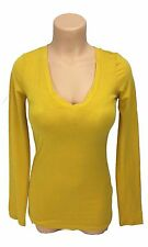 NEW One Step Up Juniors, size medium, yellow gold v-neck long sleeve shirt