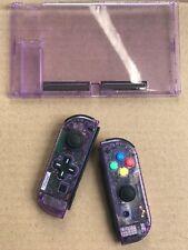 Nintendo Switch Custom Joy Con Controller Joy-Cons Purple D-PAD + BACKPLATE