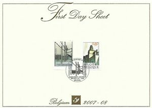 [FDS223] Belgium FDS 2007-08 Architecture First Day Sheet SUPERB