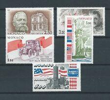 MONACO - 1986 YT 1532 à 1535 et 1537 -  TIMBRES NEUFS** LUXE