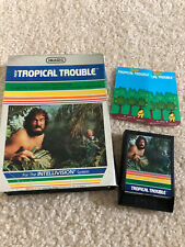 Tropical Trouble Intellivision Box game and overlays Tested Imagic