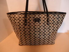 KATE SPADE Black & White Abstract Signature Bow LARGE Harmony Tote Bag NEW (2x