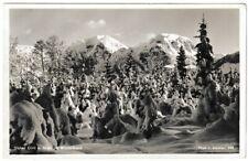Ansichtskarte Hoher Göll und Brett im Winterkleid 1935 - schwarz/weiß