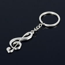 New Cartoon Violin Guitar Music Note Treble Clef Keyring Keychain Pendant Gift
