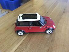 Mini Cooper Red Diecast Car Model Scale 1/18 By Maisto