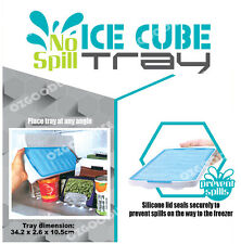 2 x FOOD GRADE SILICONE lid Good Grips No Spill Ice Cube Tray Odorless Cubes
