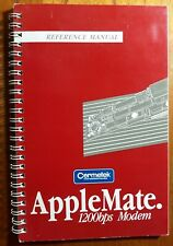 Reference Manual Applemate 1200bps Modem by Cermetek for Apple II+,IIe