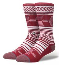 Alabama Crimson Tide Mazed Crew Socks  Large 9-12 Stance