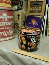 1990s NABISCO Round Tin Container {Nicole Miller} OREO ~ Chips Ahoy! ~ RITZ ~