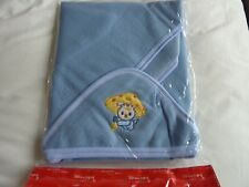 Baby Bath Towel Soft & Warm Wrap Hooded Blanket with embroidered Cat in Blue