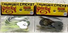 (2) StrikeKing Thunder Cricket 3/8oz Chartreuse White & Blue Craw L50