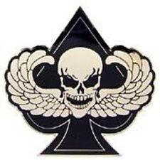 Metal Lapel Pin Bikes Skull Bones and Pirate Pins Death Wings Spade New