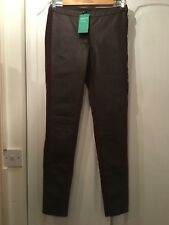 New Brown Leather Look Jeans/ Leggings Size 8