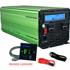 2500W 5000W Power Inverter Pure Sine Wave  DC 12V to AC 110V Remote LCD Display