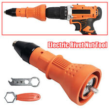 Electric Rivet Nut Gun Riveting Tool Cordless Drill Adaptor Insert Wrench Tool