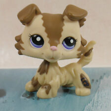 brown Collie Dog pubby #2210 LPS mini Action Figure  Littlest pet shop