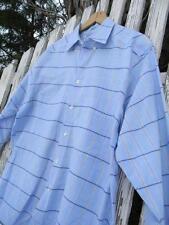 Mens Vintage Levis Made in USA dress shirt blue plaid sz M medium EUC