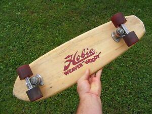 """Old Vintage Hobie """"Weaver Woody"""" Wood Skateboard ACS 430 Trucks  - 1970's 80's"""