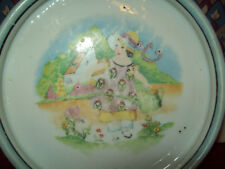 Vintage Baby Feeding Dish marked Chikaramachi Made in Japan Hand Painted