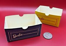 (2) Vintage 1960s YELLOW & BLUE Barbie Accessories Drawer Boxes EXCEL SHAPE
