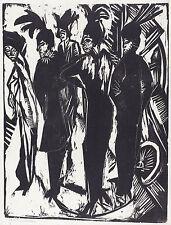 Ernst Kirchner Reproduction: Five Tarts - Fine Art Print