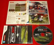 PRO EVOLUTION SOCCER 2011 PES Nintendo Wii Versione Italiana 1ª Ed ○ USATO - GC