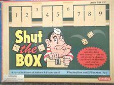 Schylling Shut The Box Game Wood Dice Green Felt Wood Box