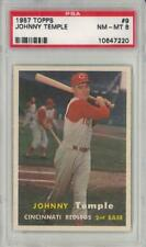 1957 Topps #9 JOHNNY TEMPLE Cincinnati Reds PSA 8    10647220