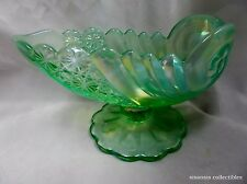 Fenton Willow Green Opalescent Shell Bowl Comport 95th Anniversary LE
