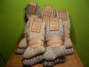 2 Paar Norwegersocken Schafwolle Softgewaschen Gr. 35-50 Damen Herren Socken neu