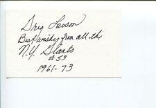 Greg Larson NY New York Giants Minnesota Golden Gophers Signed Autograph