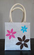 Jute lunch bag Flowers