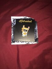 KIDROBOT SDCC 2017 EXCLUSIVE LIMITED EDITION SKATEBOARDING PIZZA DUNNY PIN