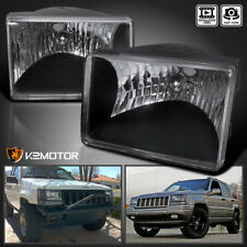 1993 1998 Jeep Grand Cherokee Diamond Black Headlights Left Right