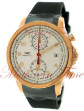 IWC Portuguese Yacht Club Chronograph Silver Dial 18kt Rose Gold 43.5mm IW390501