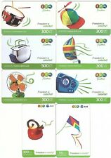 Thaïlande - GSM Prepaid Cards - 8 Cartes Freedom is Colorful! - Usagée/Used