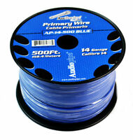 14 GA 500' Blue Audiopipe Car Audio Home Primary Remote Wire