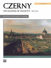 Czerny -- School of Velocity, Op. 299 (Complete) (1969, Paperback)