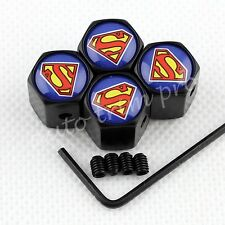 Universal Car Accessories Wheel Tyre Tire Valve Air Cap Cover Superman Antitheft