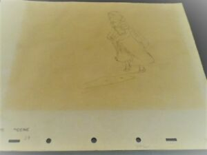1937 RARE WALT DISNEY SNOW WHITE SEVEN DWARFS  PRODUCTION  DRAWING CEL