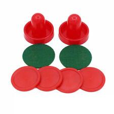 Air Hockey Tables Game 76mm 2Pusher 4 Pucks 2Felt Set Mallet Goalies Accessory