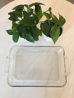 "Anchor Ovenware Baking Dish 1040 9.5"" x 13.5"" x 2"" Clear 3 qt. Vintage Glass"