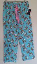 New Emme Jordan Coffee Now! Blue Cotton Pajama Pants Size XL