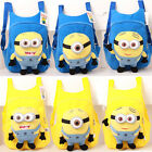 Kids Toddler Child Kindergarten Stuffed Minion Doll Cartoon School Bag Backpack