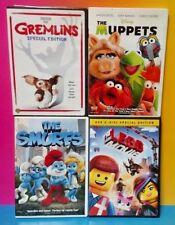Disney The Muppets Lego Movie Gremlins The Smurfs DVD Movie Kids Lot